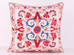 Handmade Suzani Pillow Cover ssp1087 by BlackFigDesigns on Etsy, $44.00