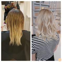 light cold blonde before and after