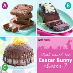 That's way too much chocolate. SAID NO ONE EVER. Right, #Easter bunny? http://www.picknpay.co.za/recipe-search-results/chocolate-fudge http://www.picknpay.co.za/recipe-search-results/flourless-chocolate-cake http://www.picknpay.co.za/recipe-search-results/billionaires-chocolate-brownie-ice-cream-bomb #dailydish #picknpay #freshliving