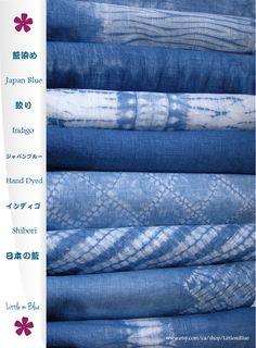 Shibori natural indigo hand dyed fabric by Little m Blue