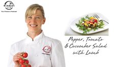 Windset Farms: Pepper, Tomato & Cucumber Salad with Lamb. Chef Dana whips up a YUMMY piece of lamb to serve on a delightful cucumber, grape tomato and pepper salad. Executive Chef, Cucumber Salad, Farms, Food Videos, Love Food, Stuffed Peppers, Recipes, Haciendas, Homesteads