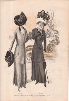 1910 Delineator Fashion Print
