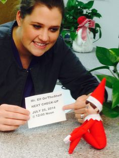 Elf on a Shelf makes his follow up routine appointment...when...Christmas in July!