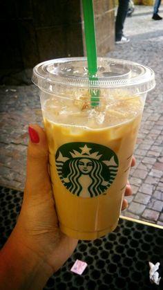 Vanilla ice latte from Starbucks <3