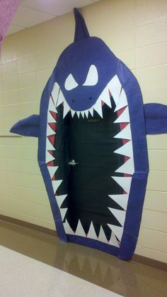 Door decor to kick off our ocean study... a big wow when kids see it!