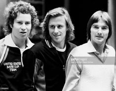 From Left: John McEnroe, Björn Borg, and Jimmy Connors at the Felt Forum in New York.