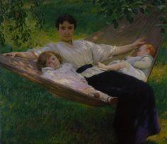 Joseph DeCamp, The Hammock, c. 1895, oil on canvas; 111.8 x 127 cm