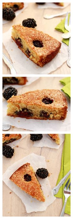 Buttermilk cake with blackberries. So moist, sweet, and fruity, plus it's super easy to bake for the family | rasamalaysia.com