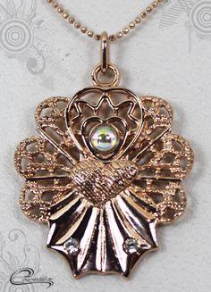 Pingente Brigite com significado - Joias plated com 10 camadas de ouro rose 18k