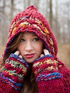 Oh! Someday I want to be able to knit this! Love Malabrigo Rasta yarn. This would be an incredibly warm sweater.
