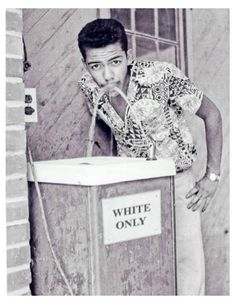 Black man drinking at white only fountain, ca 1964 - Imgur