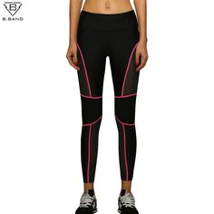 B.BANG Women Sport Running Leggings Patchwork Fitness Yoga Pants Ladies Slim Legging Quick dry Sports Tights for Gym Running #jewelry, #women, #men, #hats, #watches