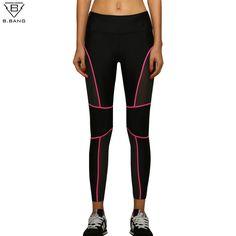 B. BANG Femmes Sport Courir Leggings Patchwork de Remise En Forme De Yoga Pantalon Dames Mince Legging Sport À Séchage Rapide Collants pour la Gymnastique de course