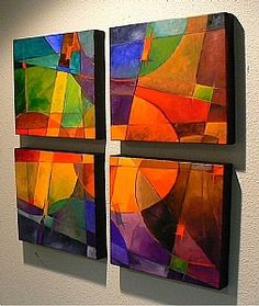 Color Quad, 9051 by Carol Nelson Oil ~ 24 x 24