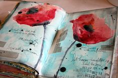 love the poppies, splatters, tape, everything!