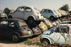 Fiat 500 schroot-wrak