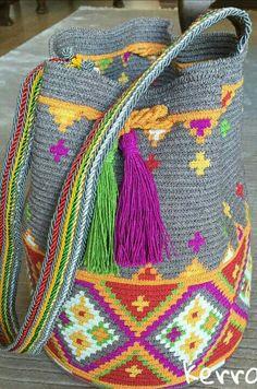 Free Crochet Bag, Love Crochet, Filet Crochet, Beautiful Crochet, Knit Crochet, Crotchet Bags, Knitted Bags, Tapestry Bag, Tapestry Crochet