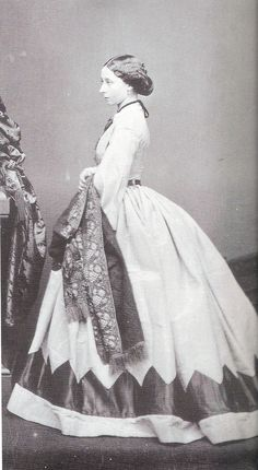 Princess Alice of the United Kingdom. 1861. Photographed by Mayall in London. From the National Portrait Gallery, London.
