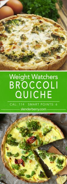Weight Watchers Broccoli Quiche Recipe - 6 Smart Points 114 Calories