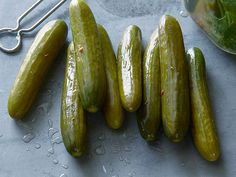 Dill Pickles recipe from Alton Brown via Food Network