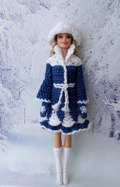 Barbie Paola- s photos Knitted Dolls, Crochet Dolls, Accessoires Barbie, Fashion Dolls, Fashion Outfits, Crochet Barbie Clothes, Barbie Patterns, Barbie Dress, Barbie Doll