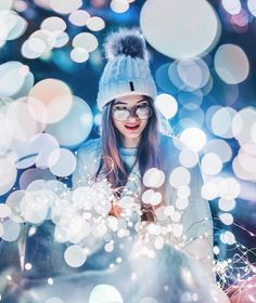 Discovered by Find images and videos about girl, photography and winter on We Heart It - the app to get lost in what you love. Fairy Light Photography, Photography Poses Women, Tumblr Photography, Girl Photography Poses, Night Photography, Amazing Photography, Photography Hashtags, Photography Composition, Indian Photography