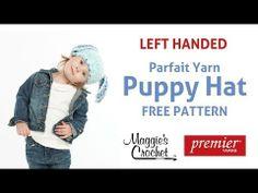 Puppy Hat Free Crochet Pattern - Left Handed