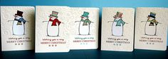 Pieced snowmen on embossed CS card - 1
