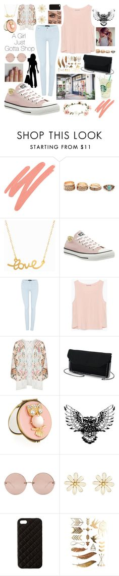 """""""Sunday Shopping"""" by eillen ❤ liked on Polyvore featuring NARS Cosmetics, Minnie Grace, Converse, 7 For All Mankind, Zara, Mat, Madewell, Neiman Marcus, Linda Farrow and River Island"""