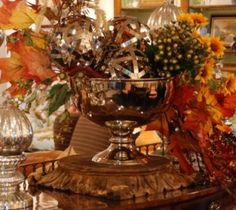 Nell Hill's fall ORB decorations