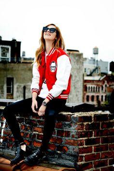 Sporty Transitions into Fall Style: Varsity Jackets