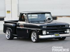 Page Any black shortbed photo threads here? The 1960 - 1966 Chevrolet & GMC Pickups Message Board 1966 Chevy Truck, Classic Chevy Trucks, Chevy C10, Chevy Pickups, Chevrolet Trucks, Dropped Trucks, Lowered Trucks, C10 Trucks, Pickup Trucks