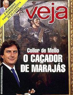 Fernando Collor de Mello, ex-president of Brazil. Revista Veja, Editora Abril, March 1988