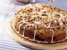 Blueberry Best Coffee Cake - not exactly low cal or low Glycemic - but it sure sounds delicious.