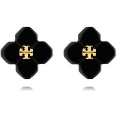 Tory Burch Babylon Resin Stud Earrings ($68) ❤ liked on Polyvore featuring jewelry, earrings, accessories, tory burch, stud earrings, flower earrings, earring jewelry, tory burch earrings and flower jewelry