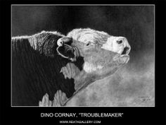 Pencil Art Gallery - Pencil Artist Dino Cornay - Pencil Artwork - New Ideas Hereford Cattle, Charro, Cow Painting, Cow Art, Western Art, Pictures To Paint, Pencil Art, Farm Animals, Art Drawings