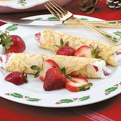 Strawberry Crepes recipe. <3