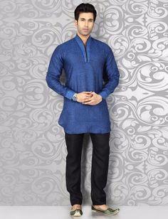 Alluring plain blue pathani suit Nigerian Men Fashion, Indian Men Fashion, Mens Fashion, Pathani For Men, Pathani Kurta, Mens Kurta Designs, Chinese Collar, Designer Suits For Men, Indian Man
