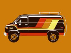 Brown Van (Wizard Wagon) designed by Chad Landenberger. Connect with them on Dribbble; the global community for designers and creative professionals. Camper Jacks, Luxury Campers, Gmc Vans, Vw Lt, 4x4 Van, Vanz, Chevy Van, Cool Vans, Dreams