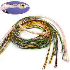 2x Durable Holographic Mylar Cord Braid Flash Tubing DIY Fly Tying Material