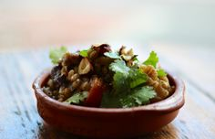 Pearl Barley Pilaf with honey, roots and hazelnuts www.tomsfeast.com
