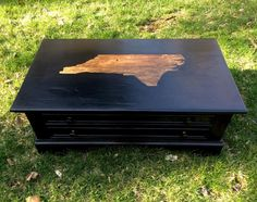 Rustic NC Coffee Table With a Heart Emoticon Where Winston-Salem Is