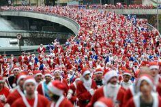 Liverpool's annual 5K Santa Dash