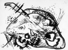 Painter Wassily Kandinsky. Composition. 1918