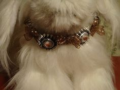 divineaddictions.com  papmered posh pups Fancy dog collars. By Stephani Chandler