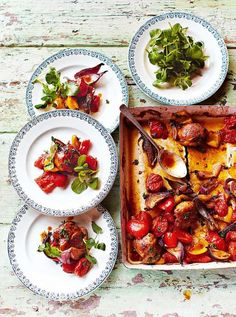 Hit n run tray baked chicken jamie oliver Chicken Tray Bake Recipes, Jamie Oliver Chicken, Jaime Oliver, Cooking Recipes, Healthy Recipes, Healthy Meals, Healthy Food, Baked Chicken, Stewed Chicken