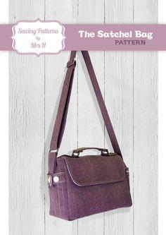 Satchel Bag PDF Advanced Sewing pattern von SewingPatternsbyMrsH