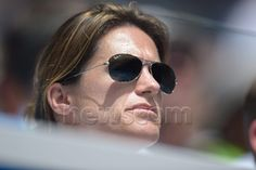 Amelie Mauresmo, the coach of Britain's Andy Murray, watches during his match against India's Yuki Bahambri in their first round match at Margaret Court Arena during the Australian Open at Melbourne Park, Melbourne, Australia, 19 January 2015. The Australian Open tennis tournament runs from 19 January to 01 February 2015