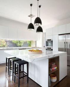 #kitchen | Black Pendant Lights Dos