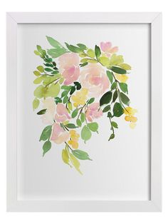 Flora in Peach I by Yao Cheng (Framed) by Minted at Gilt